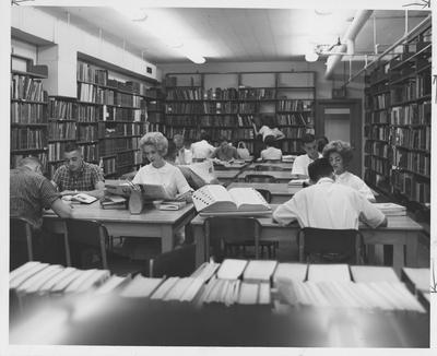 Student teachers studying in the Education Library