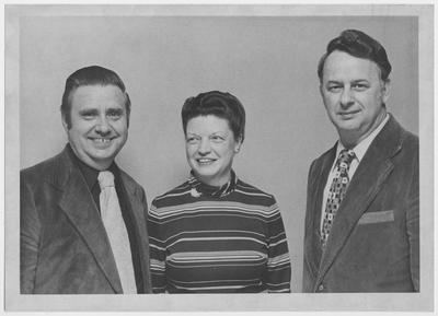 Members of Phi Delta Kappa honorary fraternity including Ollie Bissmeyer (left) and ? McClure (right)