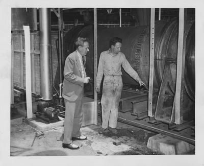 Professor C. S. Crouse in the Coal Research lab; Photographer: Mack Hughes