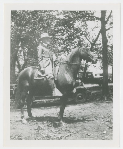 Unidentified man on horseback