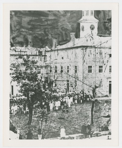 Hanging of William Barker at the Fayette County Court House