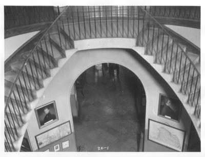 Old State House, circular staircase; designed or constructed in 1830 by Gideon Shyrock