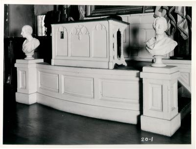 Old State House, Rostrum, House of Representatives; designed or constructed in 1830 by Gideon Shyrock