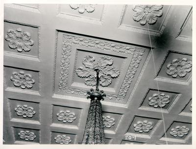 Old State House, Senate ceiling; designed or constructed in 1830 by Gideon Shyrock