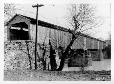 Covered wooden bridge; designed or constructed in 1807 by John Wallace