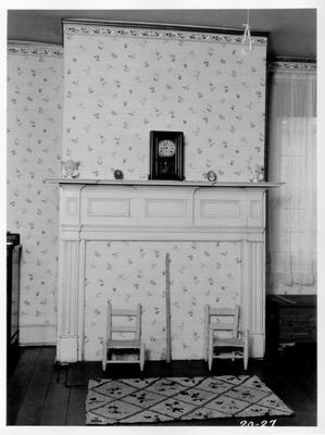 Old Governor Lazarus Powell Residence, First floor bedroom; designed or constructed in 1818