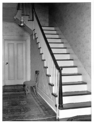 Old Governor Lazarus Powell Residence, staircase; designed or constructed in 1818