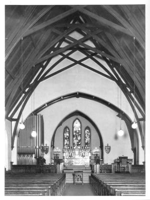 St. Paul's Episcopal Church, interior (toward the Chancel); designed or constructed in 1858