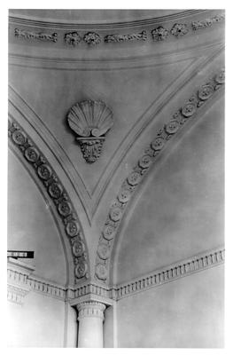 Elmwood Hall, detail of pendentive (Reception Hall); designed or constructed in 1818 by Benjamin Latrobe