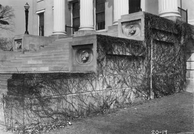 Kentucky School for the Blind, portico steps; designed or constructed in 1855 by F. Costigan