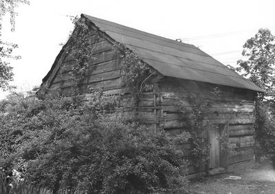 Zachary Taylor House, log smokehouse