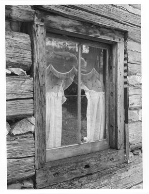 Marrs Log Cabin, window detail