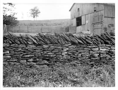 Captain Samuel Taylor House, stone fence; designed or constructed in 1790