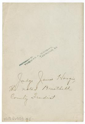 Judge James Hargis, the noted Breathitt County feudist