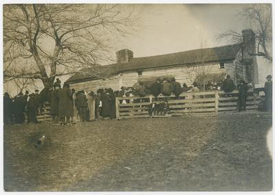 During the funeral services at the old Hargis homestead