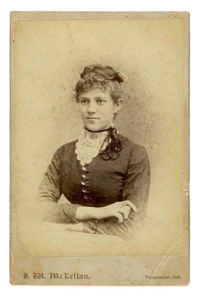 Portrait of an unidentified woman.  Handwritten on verso,