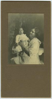 Unidentified female and infant