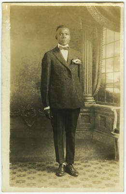 Unidentified African American male; stamped on back