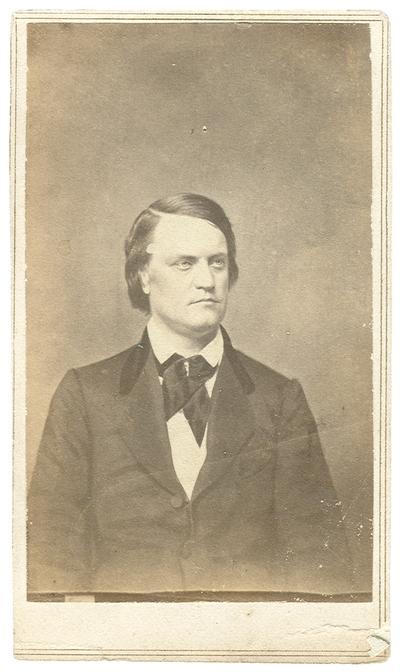 Major General John Cabell Breckinridge (1821-1875), C.S.A.; Kentucky State Representative; two-term U.S. Congressman; U.S. Vice President under James Buchanan; U.S. Senator; Secretary of War, Confederate States of America
