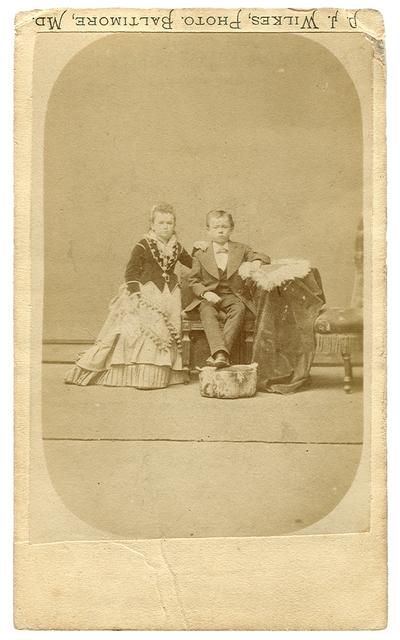 Burdett Twins; Major Burdett and his twin sister Fannie Burdett