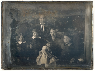 Peter Family Portrait: Dr. Robert Peter, his wife Frances Paca Dallam Peter, and their children William Peter, Benjamin Peter, Frances Dallam Peter and Letitia