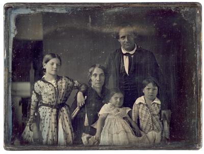 Peter Family Portrait: Dr. Robert Peter, his wife Frances Paca Dallam Peter, and their children William Peter, Letitia