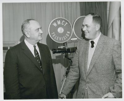 Adolph Rupp and Stan Torgerson of WMC-WMCF