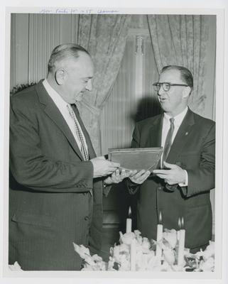 Adolph Rupp and unidentified man