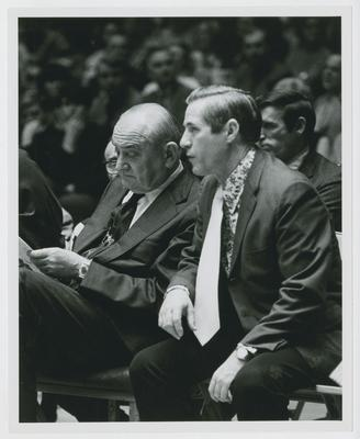 Adolph Rupp and Russell Rice