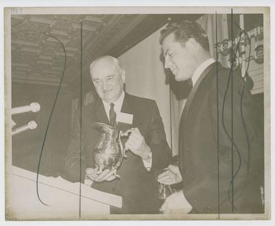 Adolph Rupp accepting