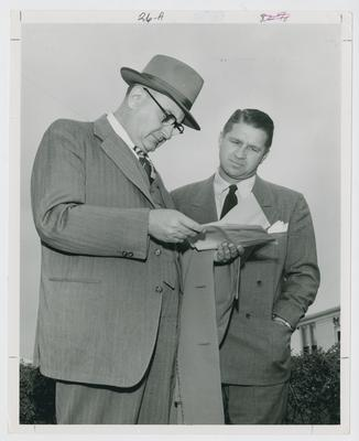 Adolph Rupp and Harry Lancaster
