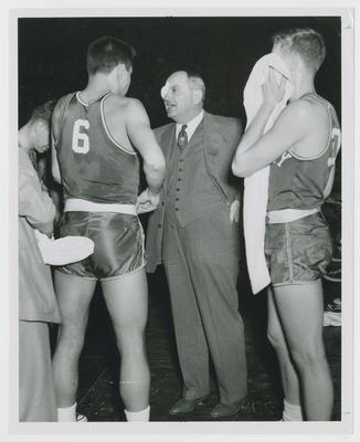 Cliff Hagan, Frank Ramsey, and Adolph Rupp