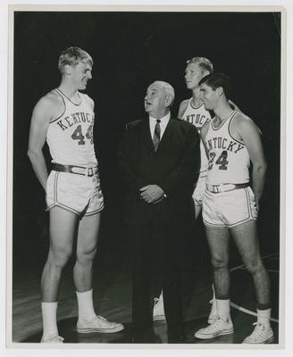 Adolph Rupp, Dan Issel, Cliff Berger, and Greg Starrick