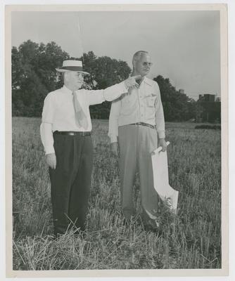 President Herman Donovan and Bernie Shively
