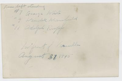 George White, Wendell Mansfield, Adolph Rupp, and others