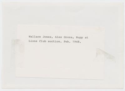 Wallace Jones, Alex Groza, and Adolph Rupp