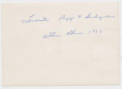 Harry Lancaster, Adolph Rupp, and [?] Sandropoulous