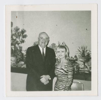 Adolph Rupp and Kathy Beckham