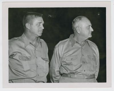 Harry Lancaster and Adolph Rupp