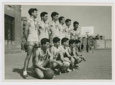 Vicente Zanon Garcia and his Basketball Team