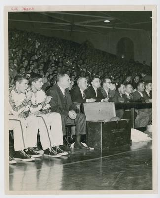 Adolph Rupp courtside