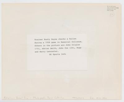 Rusty Payne, John Crigler, Adrian Smith, John Cox, Adolph Rupp, and Harry Lancaster