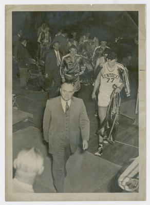 Adolph Rupp and Bill Spivey