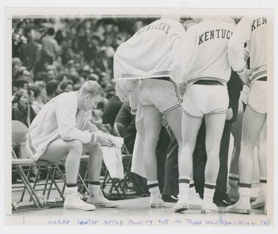 UK vs. Texas Western: Larry Conley on bench after fouling out