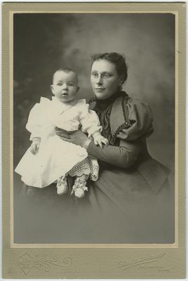 Unidentified woman and infant