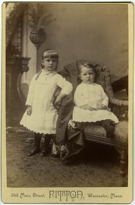 Unidentified young girl and infant