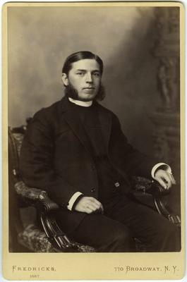 Unidentified man,                              Taken upon my / birth day / Oct 14th 1887