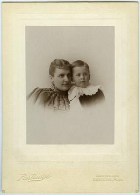 Unidentified woman and young boy