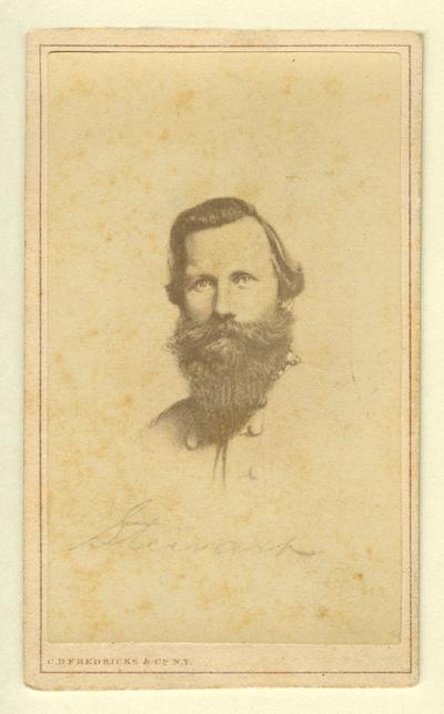 Major General James Ewell Brown Stuart (1833-1864), C.S.A.; the most successful cavalry commander in the Confederacy (Campbell & Ecker, Louisville, KY)