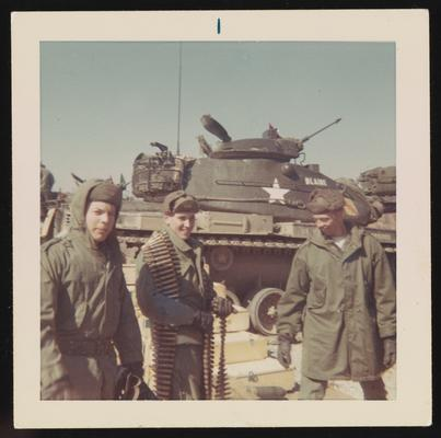 Fort Knox - from left Larry Knippel, Mark Cosgrove, and unidentified